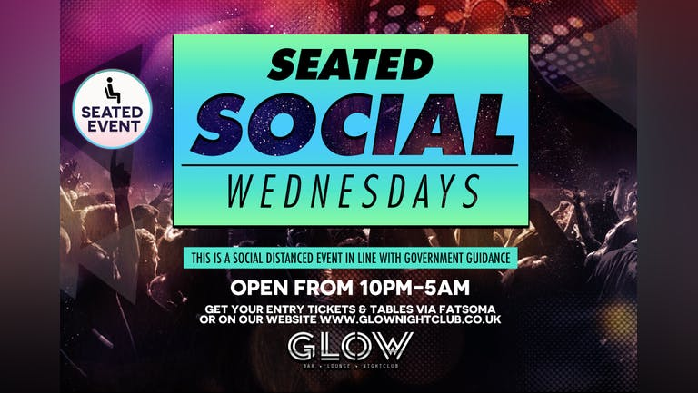 WED 23.06.21 - SEATED SOCIAL WEDNESDAY PARTY