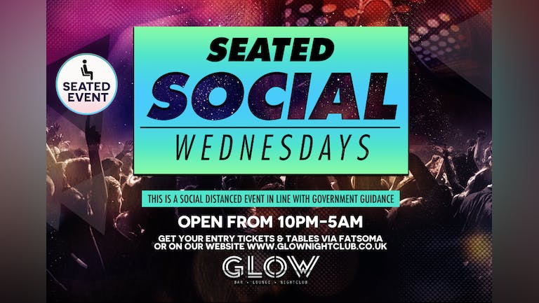 WED 14.07.21 - SEATED SOCIAL WEDNESDAY PARTY