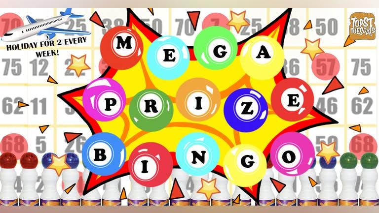 MEGA PRIZE BINGO   Book Your Table Right Away!