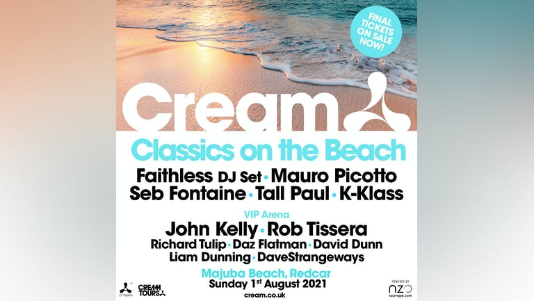 Cream Classics on the Beach