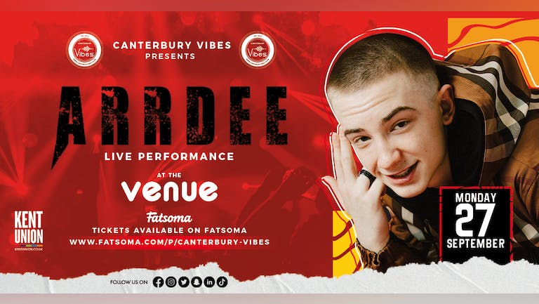 ARRDEE Live PA at The Venue Canterbury Freshers