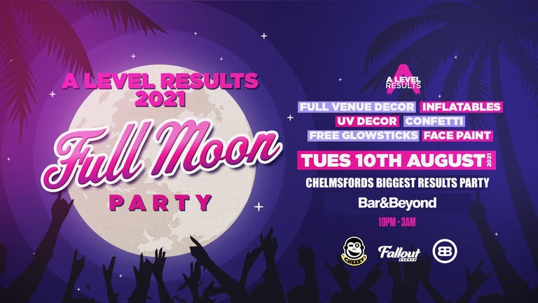 A-level Results 2021 • Full Moon Party / 10th August