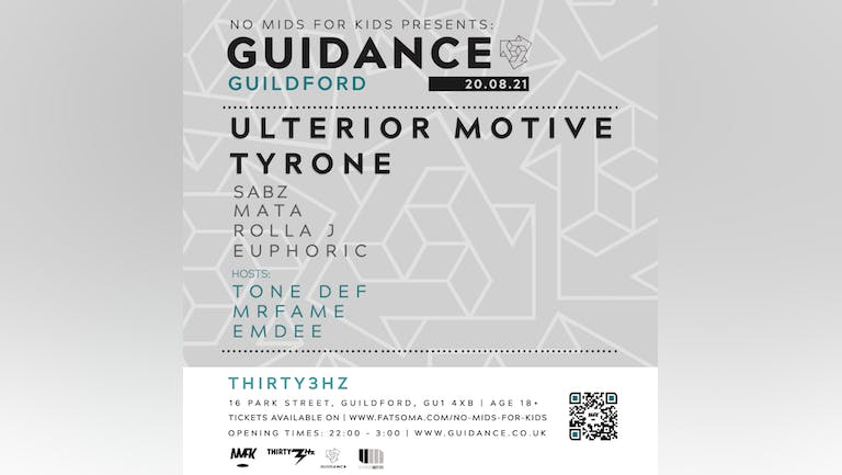 No Mids For Kids Presents Guidance Label night Guildford