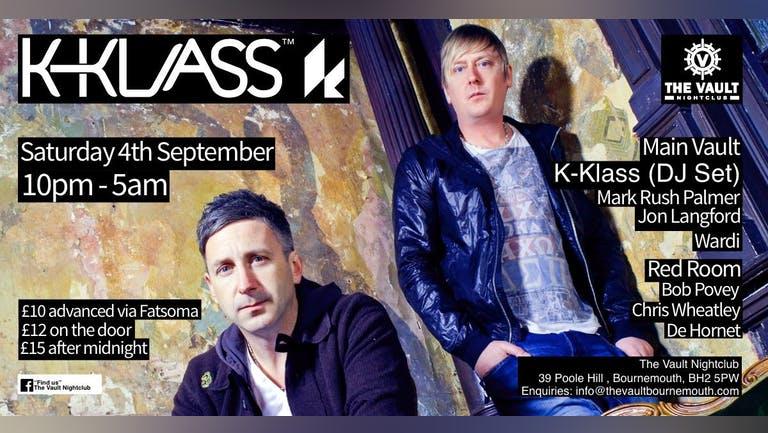 Up The Anti presents K Klass @ The Vault Nightclub