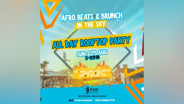 Afrobeats n Brunch: All Day Rooftop Party