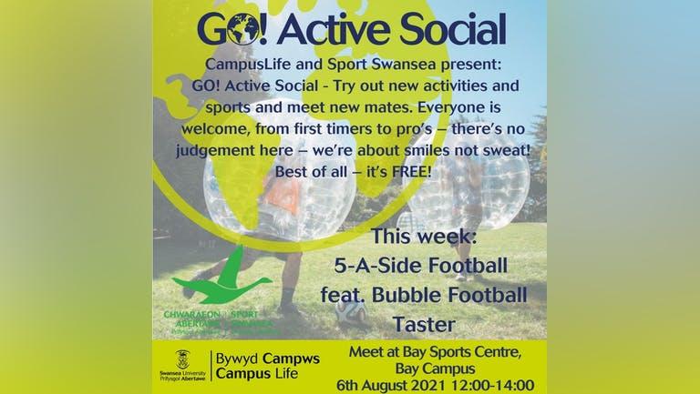 GO! Active Social - 5-A-Side Football feat.  Bubble Football  Taster!