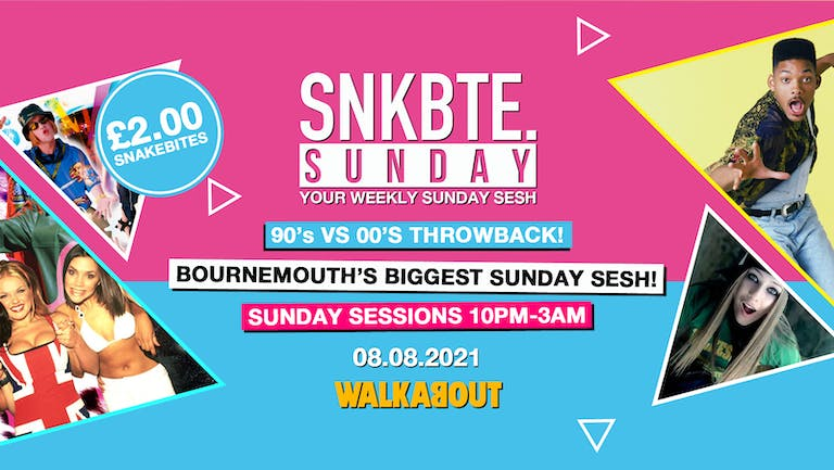 Snakebite Sundays @Walkabout // 90's vs 00's Throwback