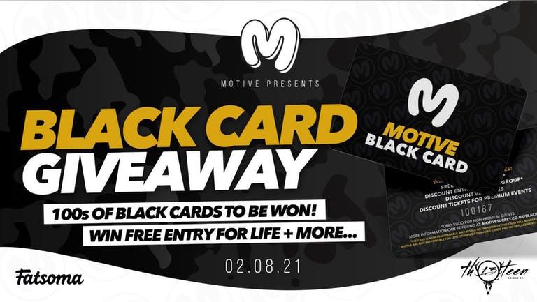 Motive - Black Card Giveaway!