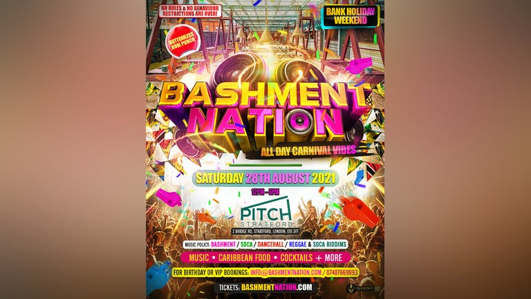 BASHMENT NATION - Bashment and Carnival Brunch