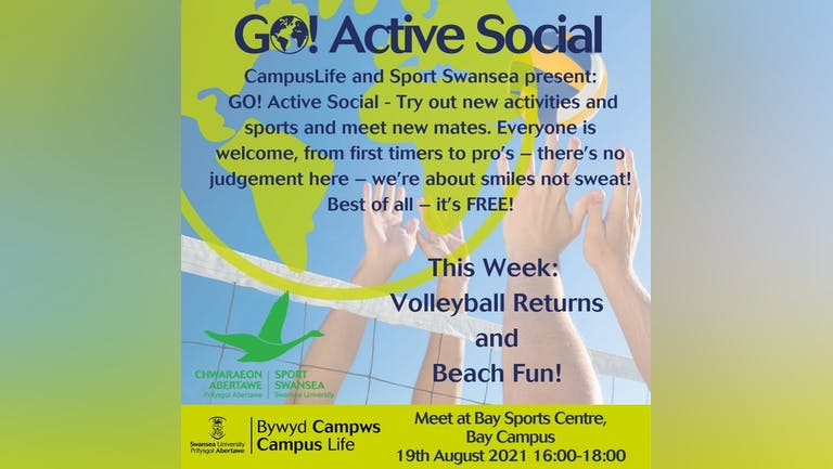GO! Active Social - Volleyball and Beach Chill (or maybe not the beach due to Welsh Weather!)