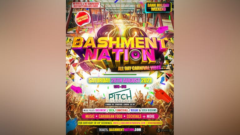 BASHMENT NATION - Carnival Bank Holiday Party
