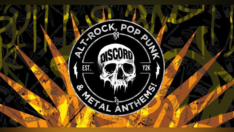 DISCORD -  Alt-Rock, Pop Punk & Metal Anthems!