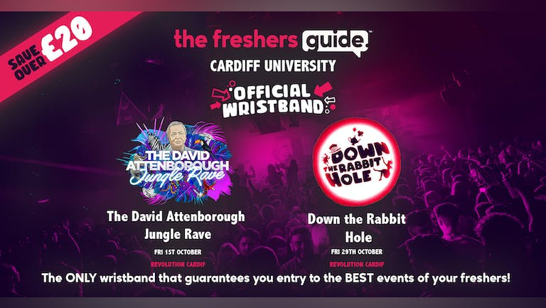 The Cardiff Freshers Guide Wristband 2021