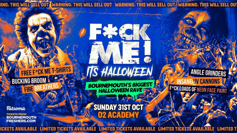 F*ck Me It's Halloween 2021 - The BIGGEST Halloween Rave This Year | Bournemouth Freshers 2021