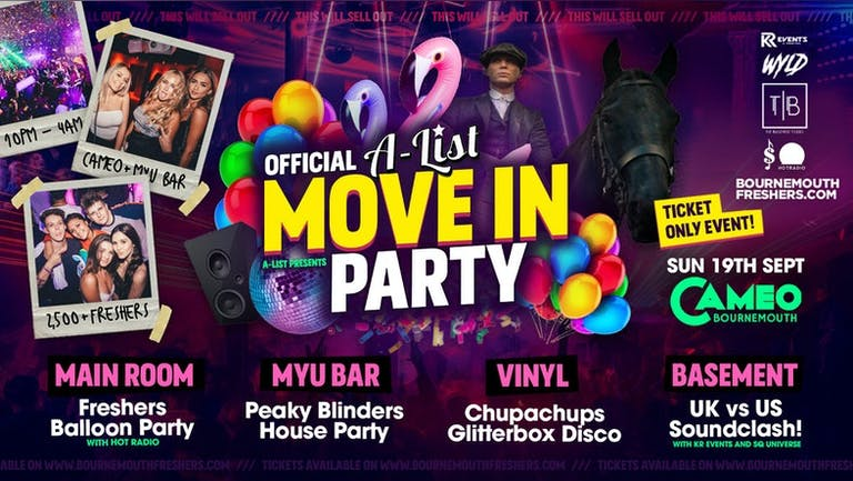 The Official A-List Move In Party 2021 @ Cameo and Myu Bar, Bournemouth's Biggest Nightclub