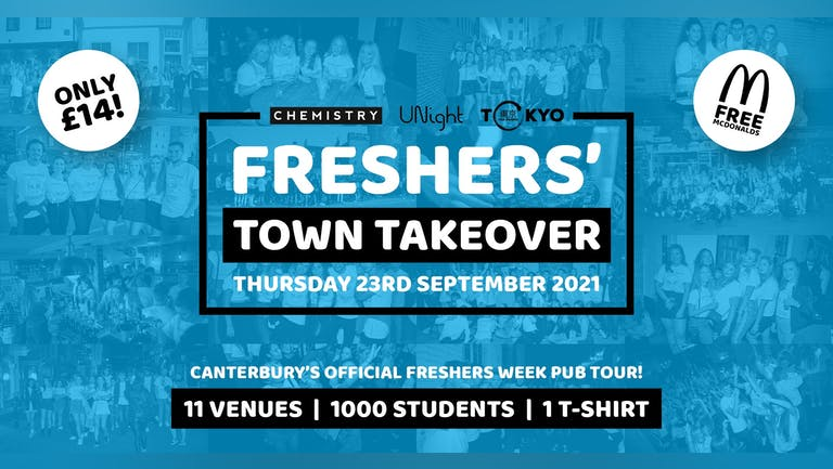 Freshers Town Takeover 2021 // Kent's BIGGEST Pub Tour!