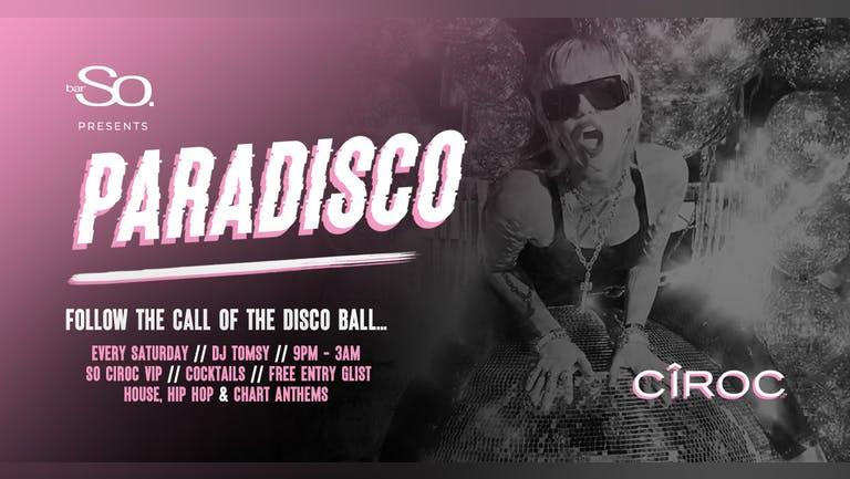 Paradisco @ Bar So Bournemouth 25/9/21
