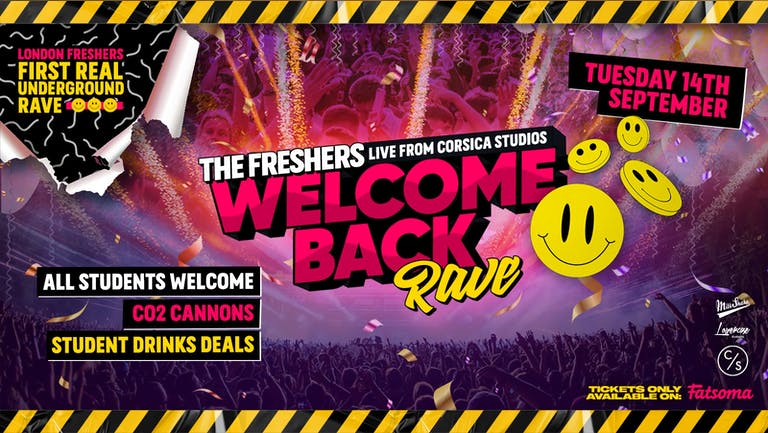 The Freshers WELCOME BACK Rave Live From Corsica ⚡ Tickets Out Now!