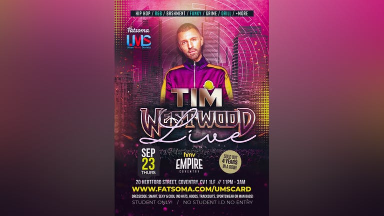 TIM WESTWOOD LIVE [50 TICKETS LEFT] (COVENTRY)