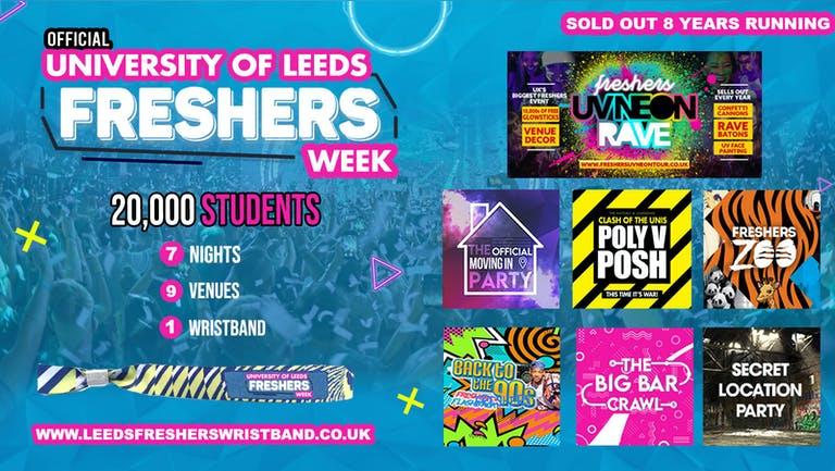 OFFICIAL University of Leeds Freshers Week Wristband 2021 - Leeds Freshers 2021