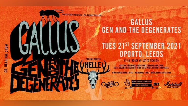 Gallus, Gen And The Degenerates & HELLE - Revive Live Tour