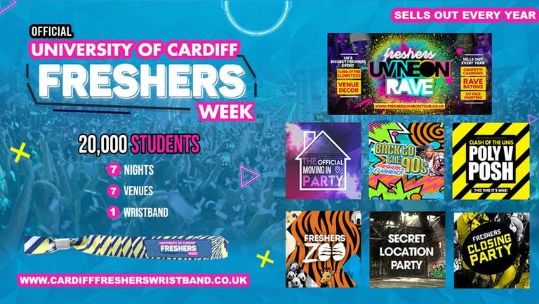 OFFICIAL Cardiff University Freshers Week Wristband 2021 - Cardiff Freshers 2021