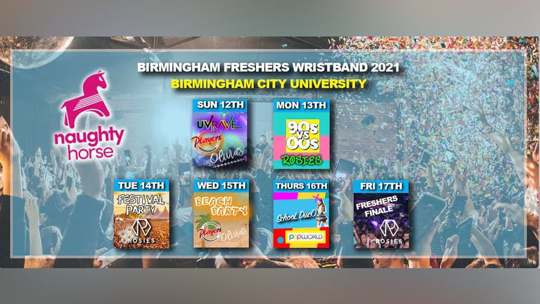 Birmingham Freshers Wristband 2021 - BCU! [Naughty Horse]
