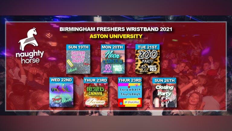 Birmingham Freshers Wristband 2021 - Aston