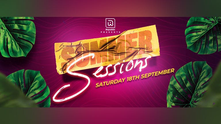 Summer Sessions feat Ryan Arnold, OPD & Rachel Rodigruez - Tickets from ONLY £5!