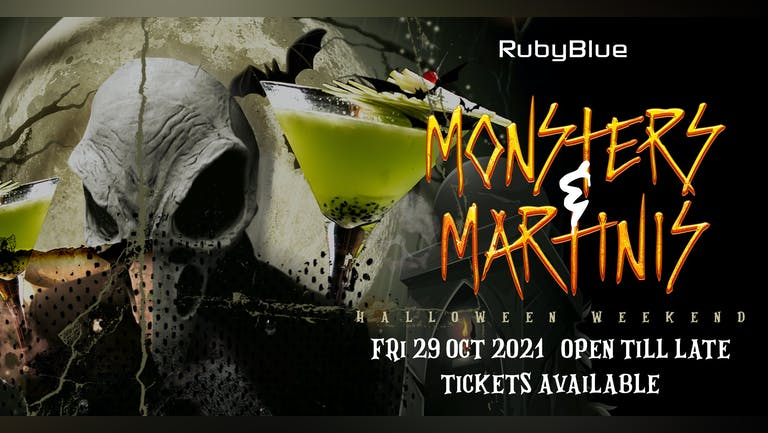 MONSTERS & MARTINIS   Halloween Friday