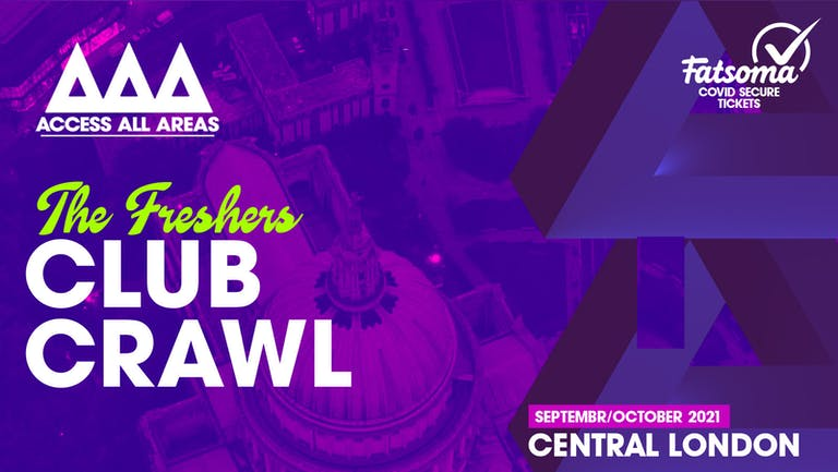 The Friday Night Freshers Club Crawl 🍻 September 24th 2021 💥