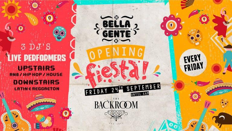 Bella Gente - Leeds' Opening Fiesta - Friday 24th September