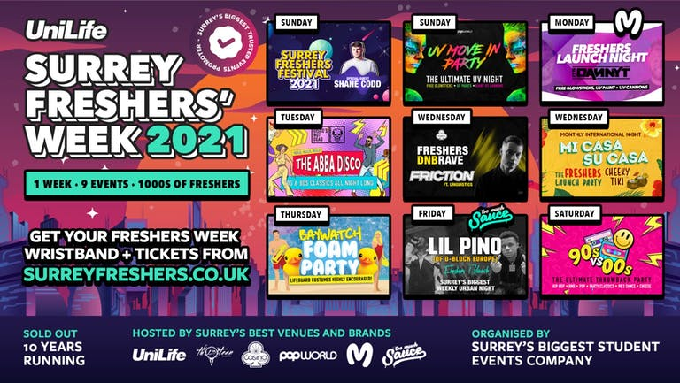 Surrey Freshers Week 2021