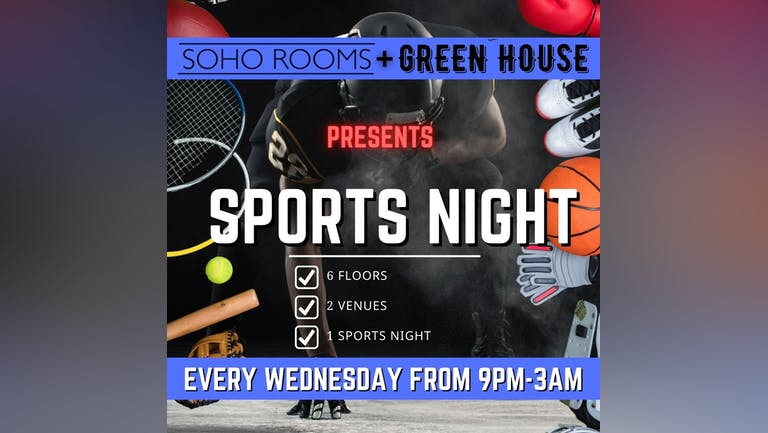 SPORTS NIGHT! (Included in Soho's Freshers Pass)