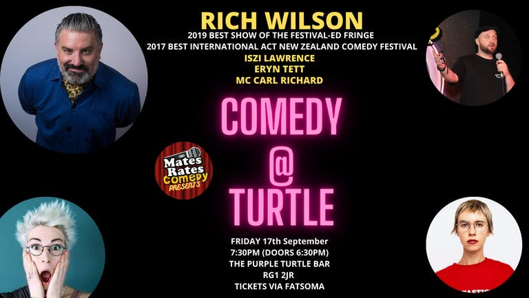 Mates Rates Comedy Presents: Comedy @ Turtle with Headliner Rich Wilson