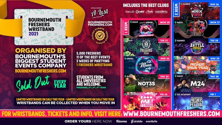 Bournemouth Freshers 2021  - www.bournemouthfreshers.com | Sign Up 2021
