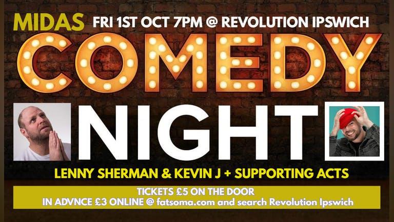 MIDAS Comedy Night @ Revolution Ipswich! - 1st October