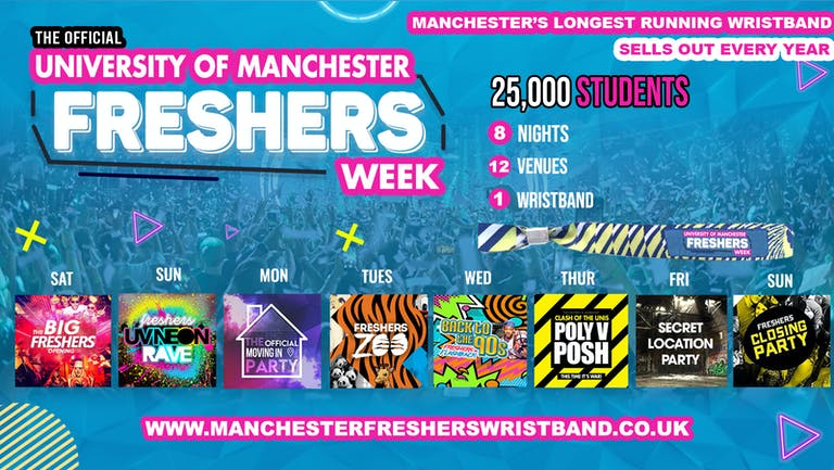 OFFICIAL Manchester Uni Freshers Week Wristband 2021 - LAST 50 WRISTBANDS
