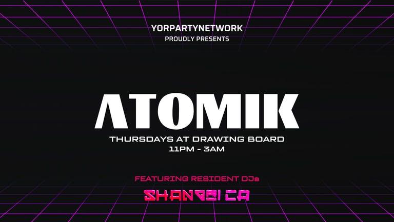 Atomik Thursdays at Drawing Board & BlueBox - 14th October
