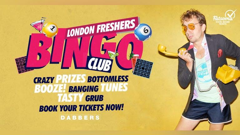 The London Freshers Bingo Club 🎱 Bottomless Bingo & Party  🎉 Tickets Out Now!